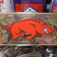 Arkansas Razorback License Plate